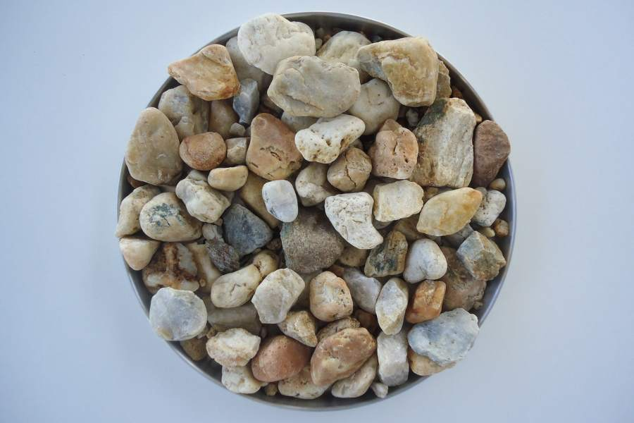 Bowl of mineral rocks