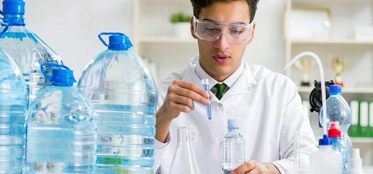 Scientist Testing Water for Diseases